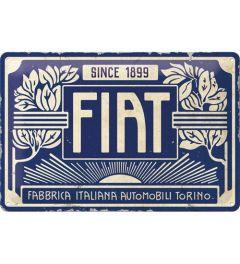 Fiat Since 1899 Logo Blue Wandplaat 20x30cm