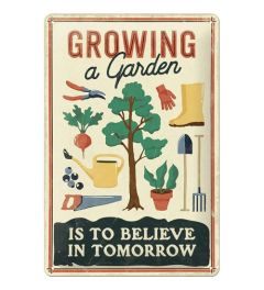 Growing a Garden Wandplaat 20x30cm