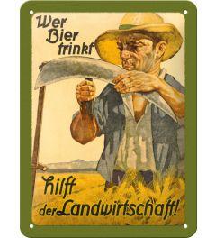 Wer Bier trinkt hilft der Landwirtschaft