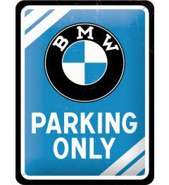 BMW - Parking Only - Blauw