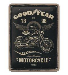 Goodyear Motorcycle Metalen Wandplaat 15x20cm