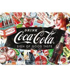 Coca-Cola Collage Metalen Wandplaat 15x20cm