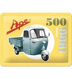 Ape 500 Since 1966 Metalen Wandplaat 15x20cm