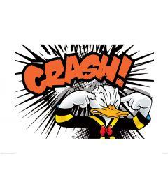 Donald Duck Crash Art Print 60x80cm