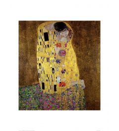 Klimt The Kiss Kunstdruk 60x80cm