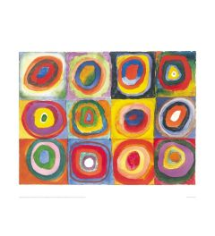 Kandinsky Colour Study with Concentric Circles Kunstdruk 60x80cm