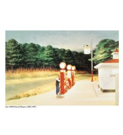Hopper Gas 1940 Kunstdruk 60x80cm