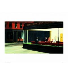 Hopper Nighthawks Kunstdruk 60x80cm