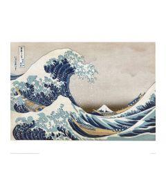 Hokusai Great Wave Kunstdruk 60x80cm