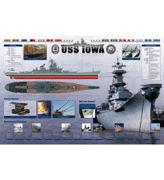 USS Iowa Poster 91.5x61cm