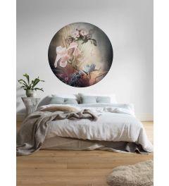 Flemish Flowers Zelfklevende Behangcirkel ⌀125
