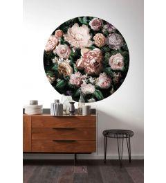 Flower Couture Zelfklevende Behangcirkel ⌀125