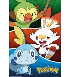 Pokemon Galar Starters Poster 61x91.5cm