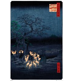 Hiroshige New Years Eve Foxfire Poster 61x91.5cm