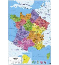Landkaart Frankrijk - Franstalig