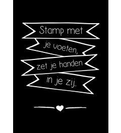Stamp Met Je Voeten