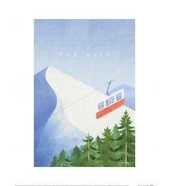 Henry Rivers The Alps Art Print 30x40cm