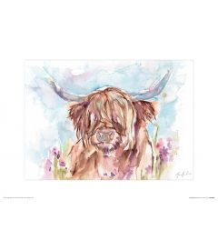 Schotse hooglander Art Print Jennifer Rose 30x40cm