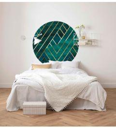 Jade Zelfklevende Behangcirkel ⌀125