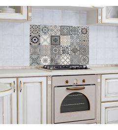 Keukenwand Sticker Portugese Tegels Grijs 65x47cm