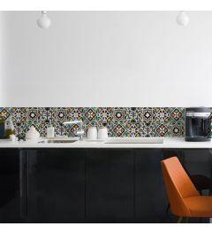 Keukenwand Sticker Portugese Tegels mozaïek 195x23.5cm