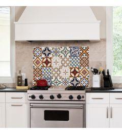 Keukenwand Sticker Portugese Tegels Rood 65x47cm