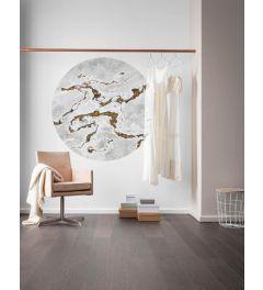 Marble Vibe Zelfklevende Behangcirkel ⌀125