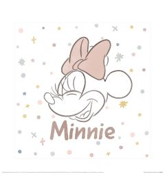 Mickey And Friends M Is For Minnie Art Print 40x40cm