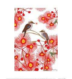 Mokoh Kookaburra Gum Art Print 30x40cm