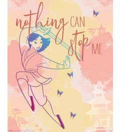 Mulan Nothing Can Stop Me Poster 40x50cm