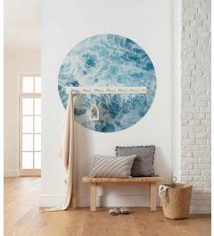 Ocean Twist Zelfklevende Behangcirkel ⌀125