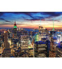 New York in de Schemering