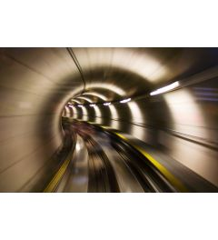 Ondergrondse Tunnel 7-delig Fotobehang 350x260cm