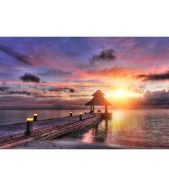 Zonsondergang Maldiven 7-delig Fotobehang 350x260cm
