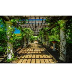 Doorgang In Tuin 7-delig Fotobehang 350x260cm