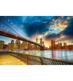 Manhattan Zonsondergang 7-delig Fotobehang 350x260cm