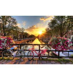 Amsterdam Zonsopgang 7-delig Fotobehang 350x260cm