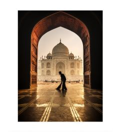 Sunrise At Taj Mahal Kunstdruk