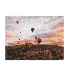 Hot Air Balloons Flying over Cappadocia Kunstdruk