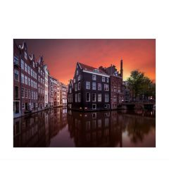 Amsterdam Canal Kunstdruk