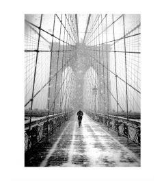 Blizzard On Brooklyn Bridge Kunstdruk