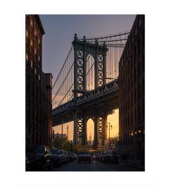Brooklyn Bridge By Night Kunstdruk