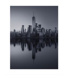 Manhattan Reflection B&W Kunstdruk