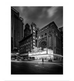 Chicago Theater B&W Kunstdruk
