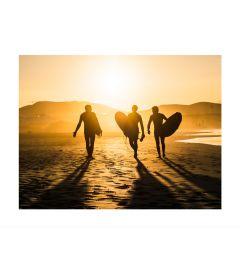 Surfers At Sunset Kunstdruk