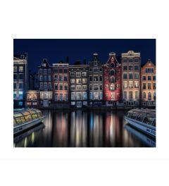 Amsterdam By Night Kunstdruk