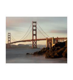 Morning Lights Golden Gate Bridge Kunstdruk