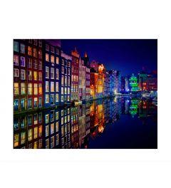 Amsterdam Canal Houses Kunstdruk