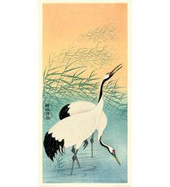 Ohara Koson Two Cranes Art Print 30x60cm