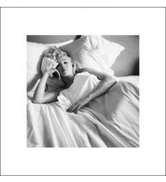 Marilyn Monroe Bed Art Print 40x40cm
